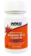 Витамин Д3 NOW Vitamin D-3 10.000IU  (120 капс)