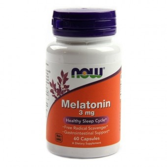 Мелатонин NOW Melatonin 3 мг  (60 капс)