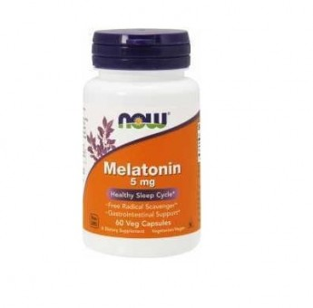 Мелатонин NOW Melatonin 5 мг  (60 капс)