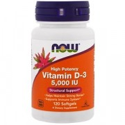 Витамин Д3 NOW Vitamin D-3 5000IU  (120 капс)
